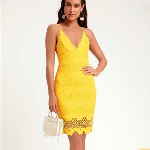 Yellow dress from lulus